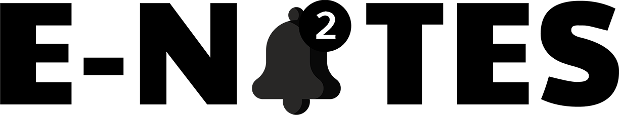 Enotes Logo With a Bell